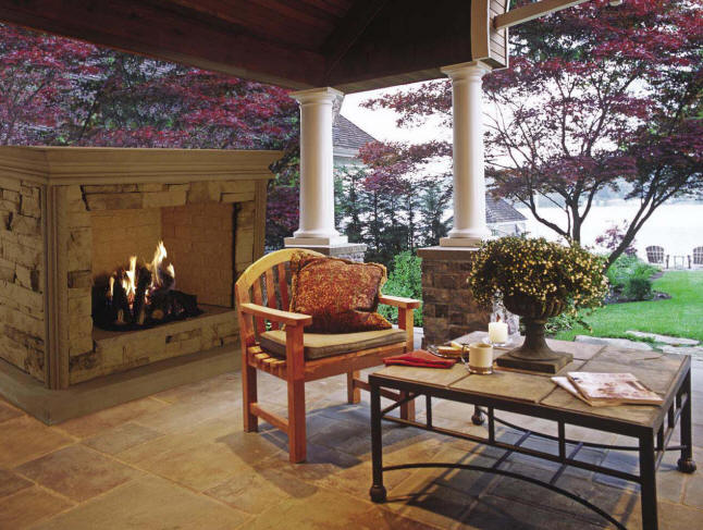 Outdoor living area ideas outdoor kitchen building and for Outdoor living areas with fireplaces